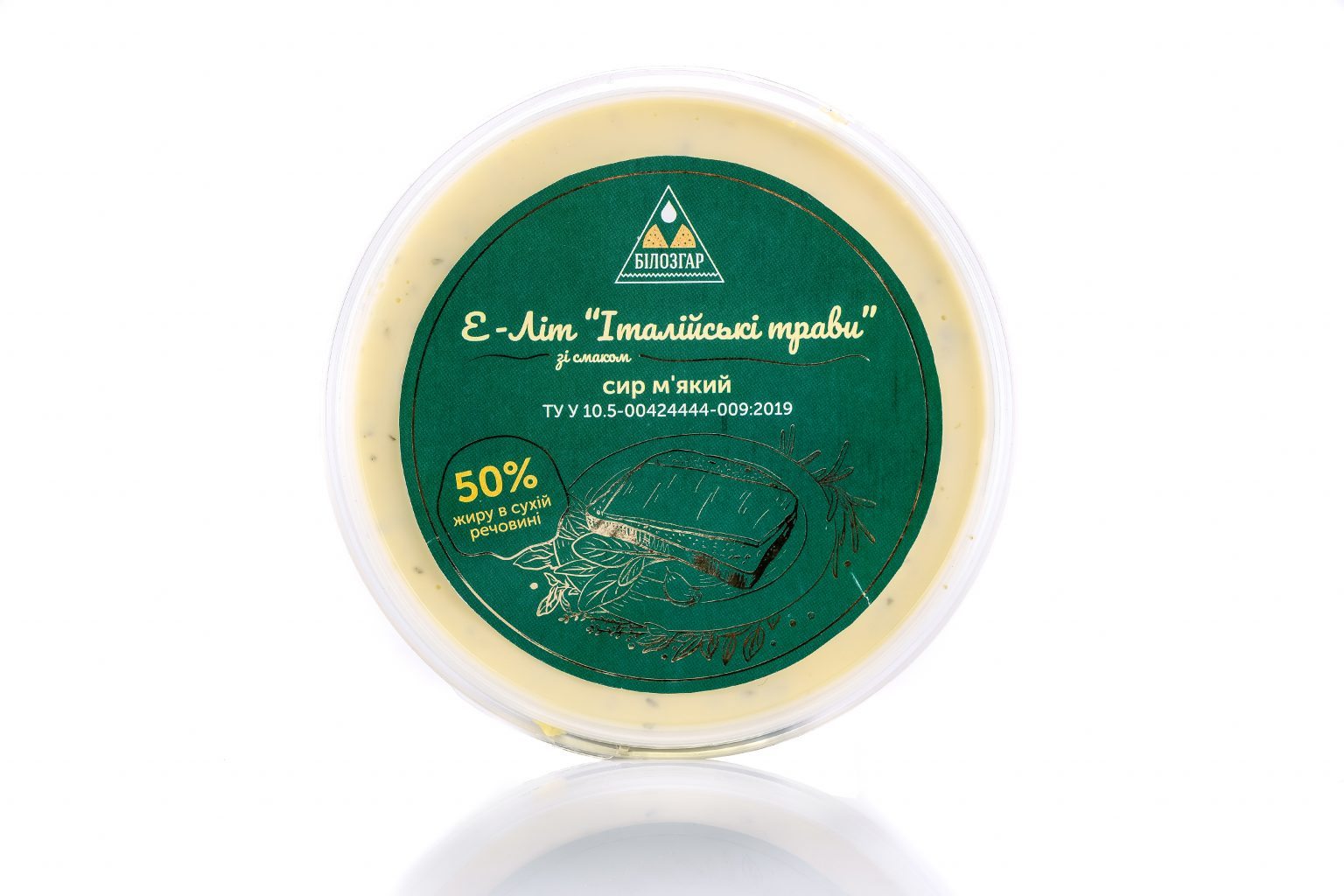E-Lit 50% fat soft cheese with Italian herbs