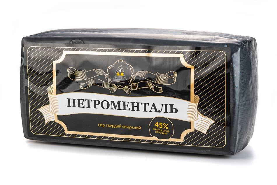 Сир сичужний твердий Петроменталь 45% Жиру фото